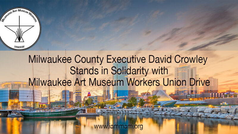 Milwaukee County Executive-David Crowley stand in solidarity